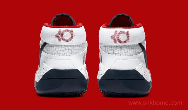 """杜兰特战靴 KD13 """"USA 杜兰特13代实战篮球鞋白黑美国队配色官图曝光-潮流者之家"""