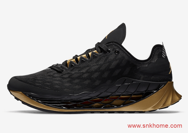 乔丹黑金跑鞋 Jordan Trunner Advance 乔丹网眼透气跑鞋全新配色 货号:CJ1495-007-潮流者之家