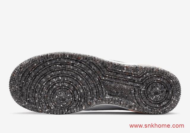空军泼墨 Nike Air Force 1 Crater GS 耐克空军白黑鞋底鞋后跟泼墨设计 货号:DB1558-100-潮流者之家
