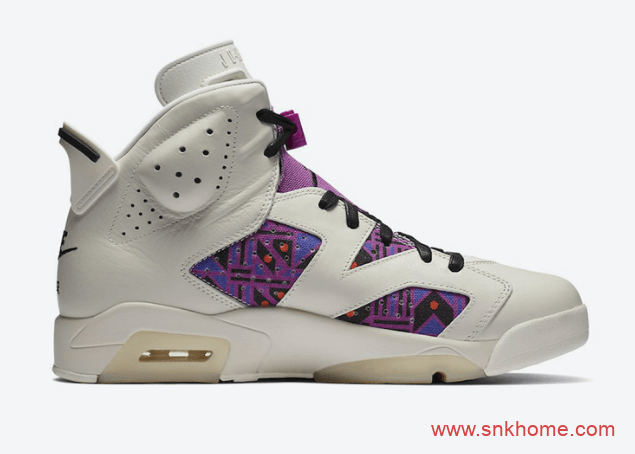 "AJ6紫色 AJ6卡其色球鞋 Air Jordan 6"" Quai 54"" 主题球鞋发售日期 货号:CZ4152-100-潮流者之家"