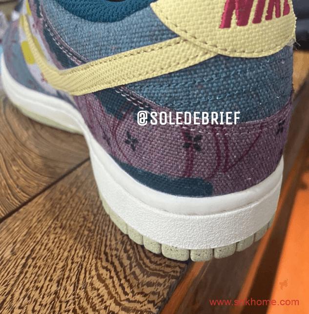"""耐克Dunk水洗做旧 Nike Dunk Low SP """"Lemon Wash"""" 耐克Dunk牛仔多色拼接发售日期 货号:CZ9747-900-潮流者之家"""