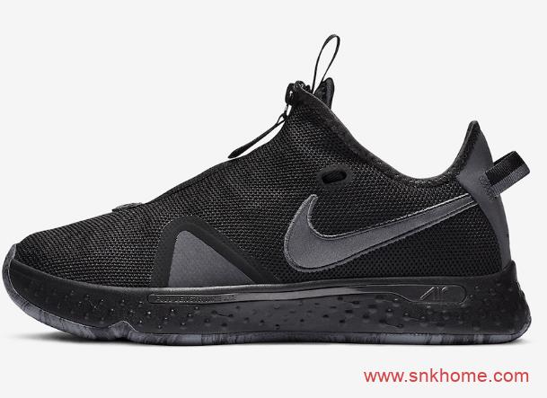 """保罗乔治四代战靴 Nike PG 4 """"Triple Black"""" 耐克PG4黑魂配色发售日期 货号:CD5082-005-潮流者之家"""