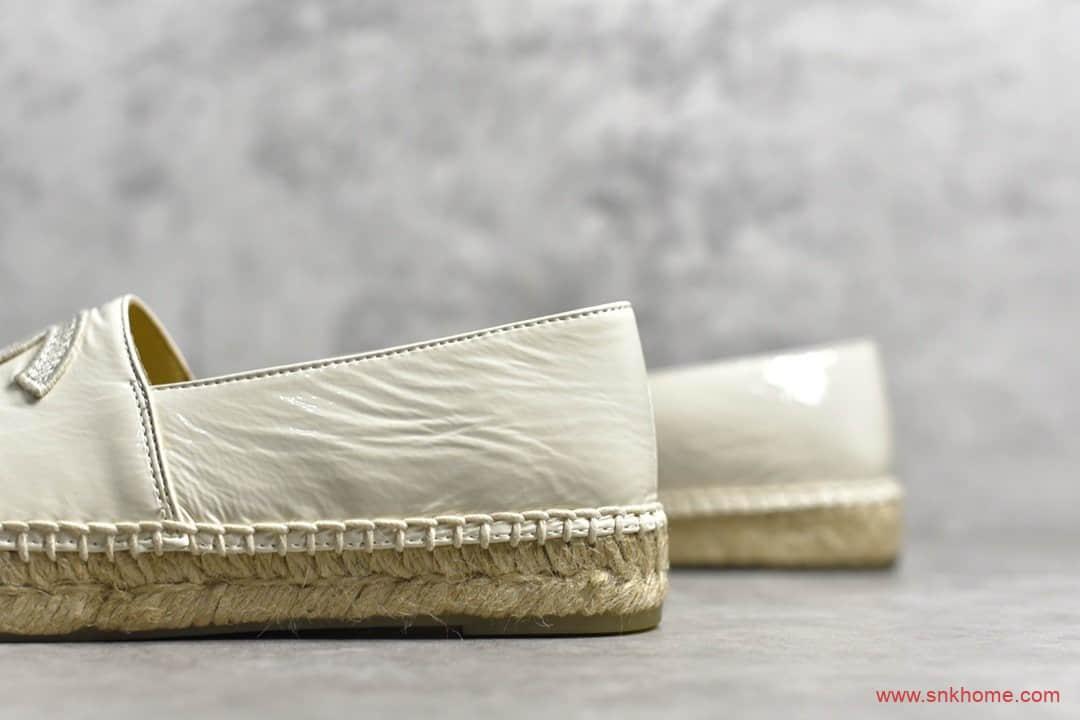 米白色渔夫鞋 香奈儿手工渔夫鞋 CHANEL正品代购香奈儿手工渔夫鞋-潮流者之家