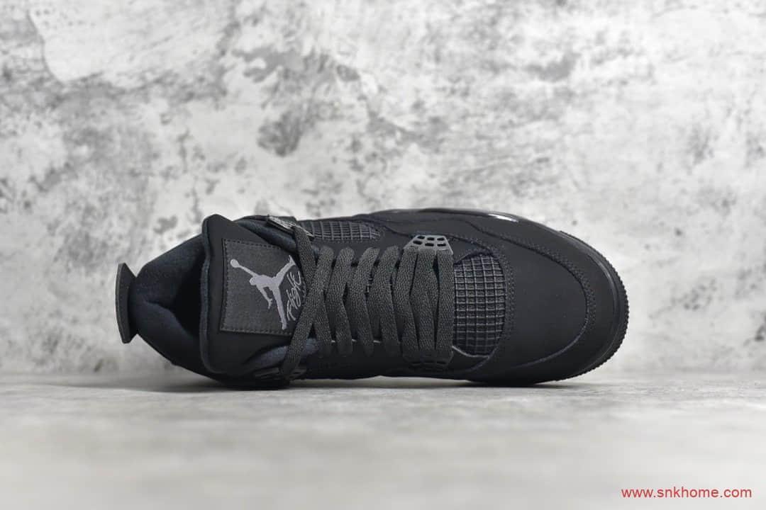 纯原版本AJ4黑猫 Air Jordan 4纯黑球鞋 货号:CU1110-010-潮流者之家