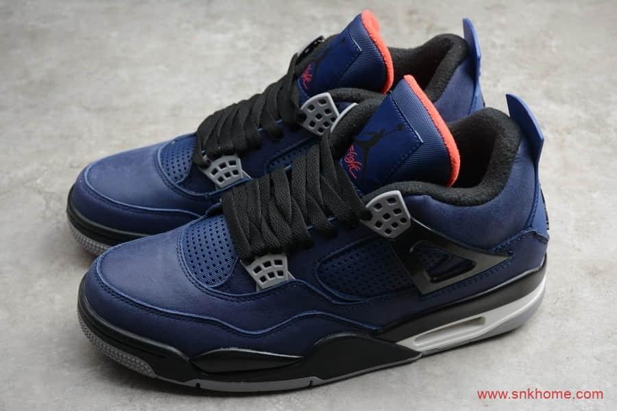 AJ4小阿姆黑蓝篮球鞋 Air Jordan 4 Retro WNTR 深蓝色AJ4实战球鞋 货号:CQ9597-401-潮流者之家