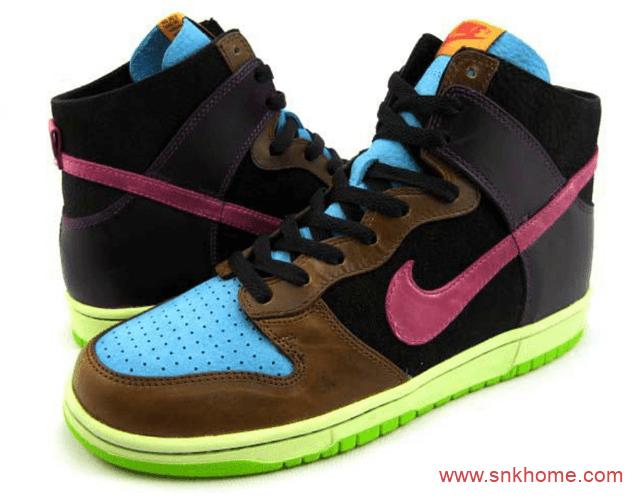 "AJ1高帮调色盘 Air Jordan 1 ""Bio Hack"" AJ1棕黑蓝绿拼接配色发售日期 货号:555555-201-潮流者之家"