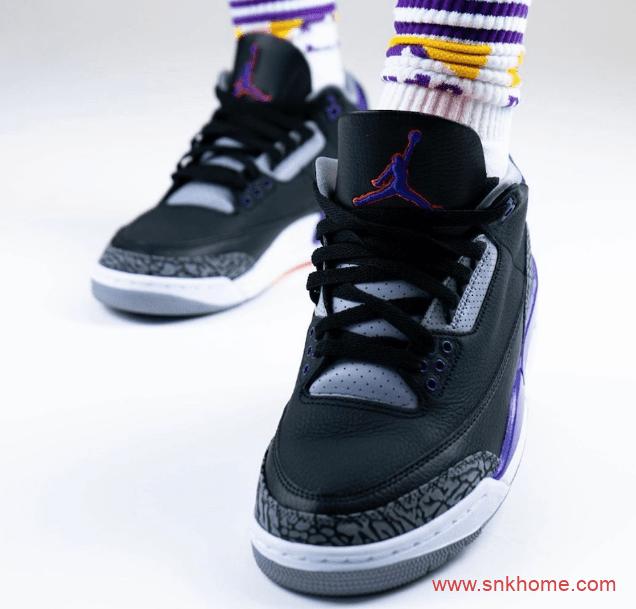 "AJ3实战篮球鞋 Air Jordan 3 ""Court Purple"" AJ3黑紫为何取消发售 货号:CT8532-050-潮流者之家"