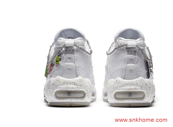 耐克城市限定 东京主题 Air Max 95 耐克MAX95气垫老爹鞋灰白 卖鞋送脚裸链-潮流者之家