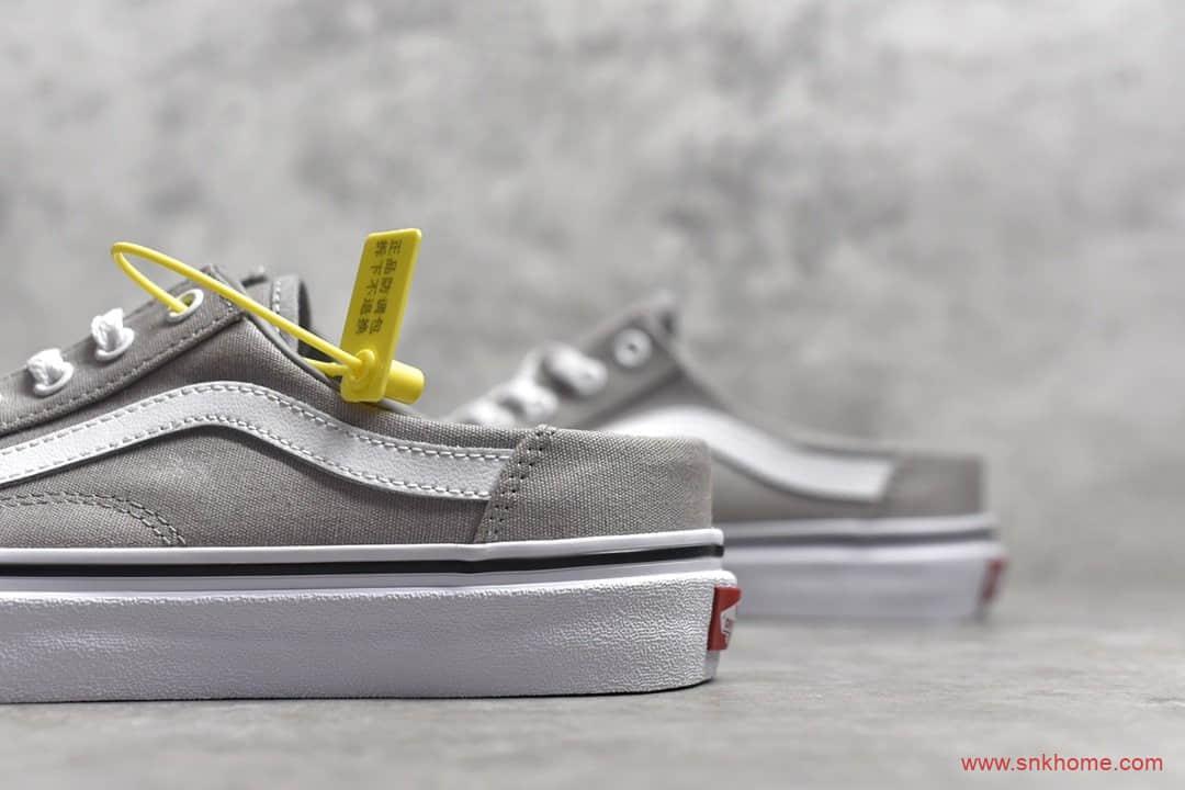 万斯半拖鞋 VANS OLD SKOOL 万斯灰色帆布鞋懒人鞋 货号:VN0A3MUSFRL-潮流者之家