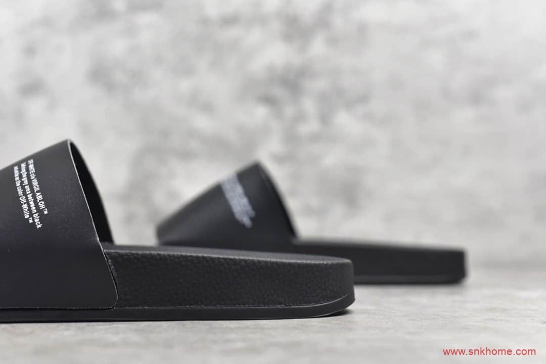 自主品牌拖鞋 OFF-WHITE C/N VIRGIL ABLOH Ow OW黑色拖鞋-潮流者之家