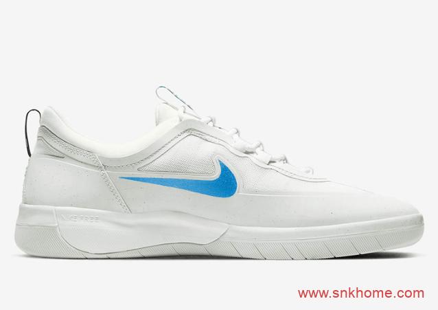 耐克SB低帮板鞋 耐克小白鞋 Nike SB Nyjah Free 2经典板鞋鸳鸯配色发售日期 货号:BV2078-105-潮流者之家