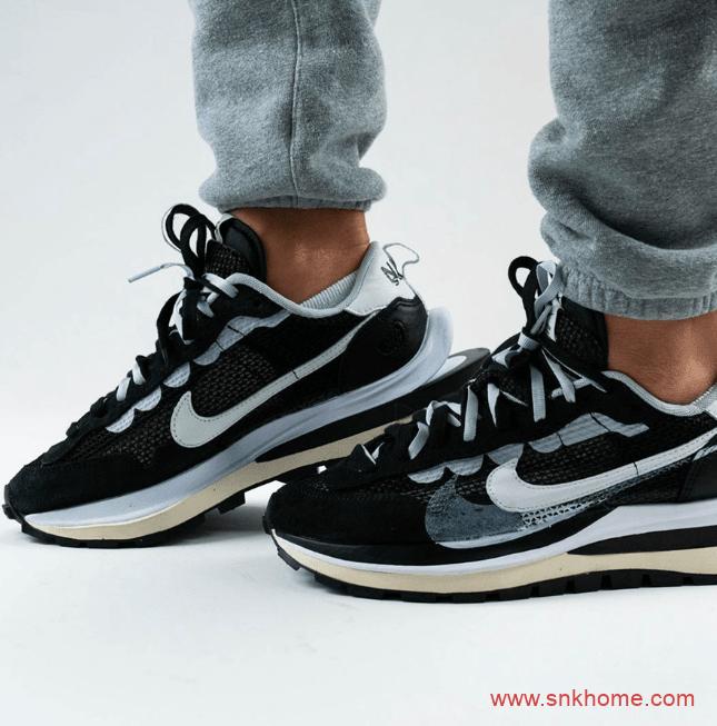 """sacai x Nike Pegasus VaporFly SP """"Black"""" 耐克华夫Sacai新一代联名走秀款上脚图 货号:CV1363-001-潮流者之家"""
