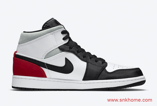 """AJ1皇家蓝酷似大闪电 Air Jordan 1 Mid SE """"Track Red""""同步发售 货号:852542-100/852542-102-潮流者之家"""