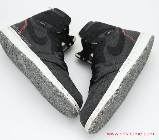 """AJ1ZOOM领衔的耐克环保鞋 Air Jordan 1 High Zoom """"Space Hippie"""" 包含三个鞋款 货号:CW2414-001-潮流者之家"""