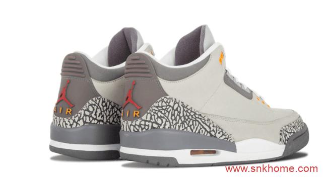 """AJ3狼灰配色AJ3复刻回归 Air Jordan 3 """"Cool Grey""""发售日期 AJ3灰色球鞋 货号:CT8532-012-潮流者之家"""