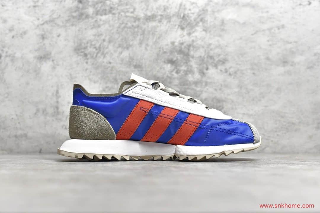 adidas SL7600 阿迪达斯王嘉尔同款复古跑鞋 阿迪达斯灰蓝红三杠 货号:EG6780-潮流者之家