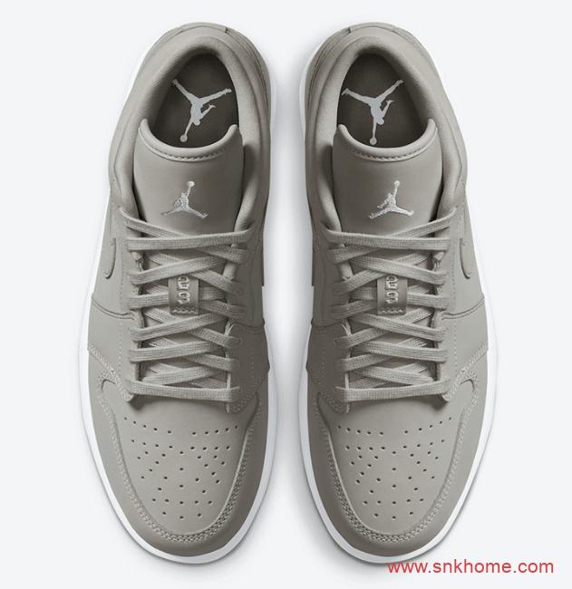 """好穿搭的AJ低帮 Air Jordan 1 Low """"Grey Fog"""" AJ1雾霾灰配色发售日期 货号:DC0774-002-潮流者之家"""