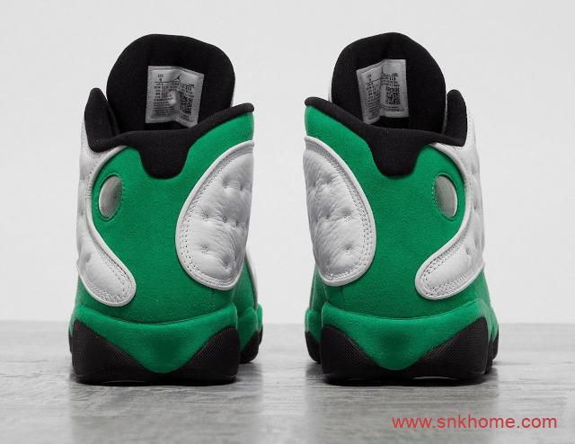 """白绿AJ13球鞋实物图 Air Jordan 13 """"Lucky Green""""酷似凯尔特人配色 货号:DB6537-113-潮流者之家"""