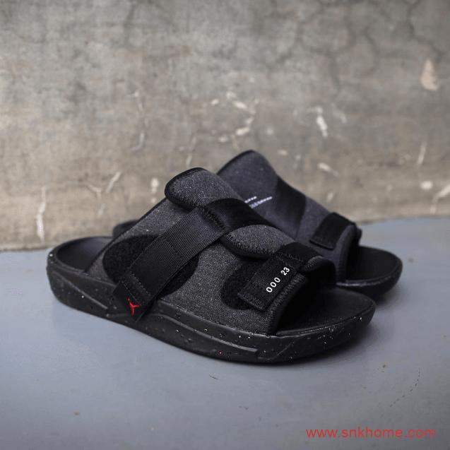 可回收材料制作 Jordan Crater 乔丹垃圾鞋AJ黑色拖鞋同步发售 货号:CT0712-001-潮流者之家