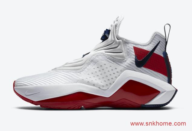 詹姆斯新款白红色球鞋 Nike LeBron Soldier 14 詹姆斯14代战靴新款发售日期 货号:CK6024-100-潮流者之家