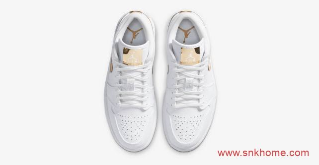 "Air Jordan 1 Low ""Metallic Gold"" AJ1白金低帮发售日期 货号:CZ4776-100-潮流者之家"