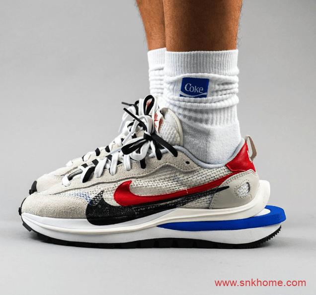 sacai x Nike新联名 sacai x Nike VaporWaffle灰白色鞋面红黑双勾发售日期 货号:CV1363-100-潮流者之家