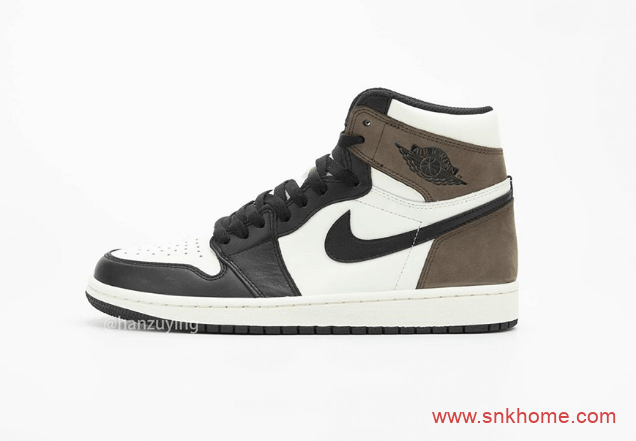 "Air Jordan 1 High OG ""Dark Mocha"" AJ1小倒钩黑脚趾白粽色发售日期 货号:555088-105-潮流者之家"