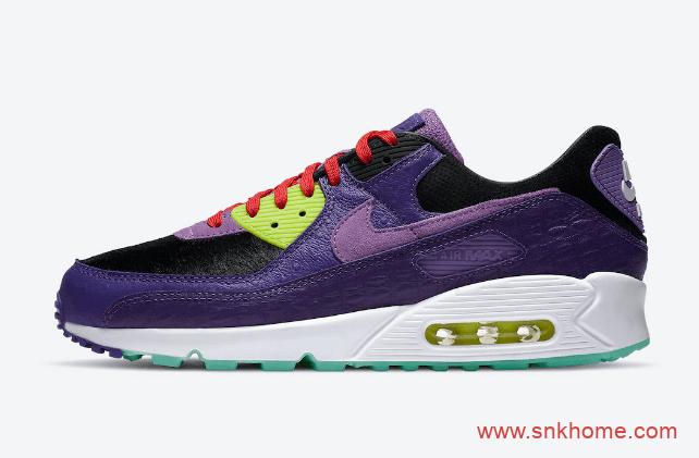 Nike Air Max 90 QS 神似耐克椰子耐克MAX90紫色装扮规格不一般 货号:CZ5588-001-潮流者之家