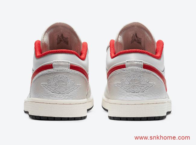 AJ1低帮OG风格 Air Jordan 1 Low AJ低帮白红配色官图曝光 货号:DA4668-001-潮流者之家