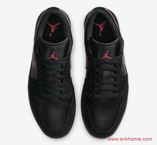 "AJ1黑武士低帮 Air Jordan 1 Low ""Red Orbit"" AJ1低帮黑红全新配色发售信息 货号:CK3022-006-潮流者之家"