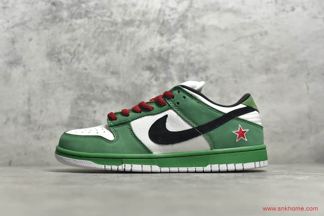 耐克纯原版本 NIKE Dunk SB Low Heineken 喜力 货号:304292-302-潮流者之家