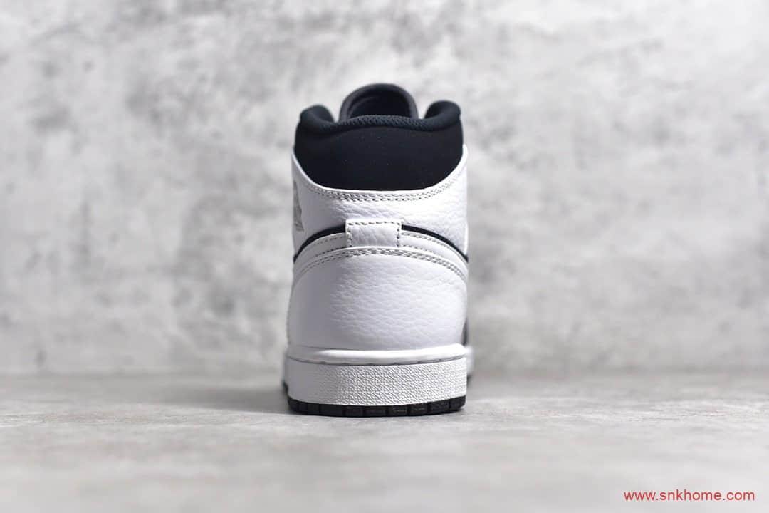 AJ1中帮黑白熊猫 Air Jordan 1 MiD 莆田纯原鞋高端复刻 货号:554724-113-潮流者之家