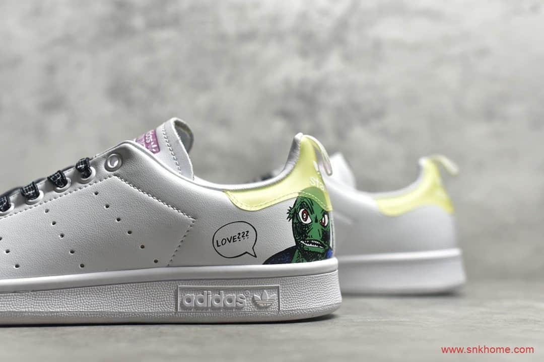 阿迪达斯小白鞋 adidas Stan Smith 阿迪达斯史密斯黄尾 货号:EG5152-潮流者之家