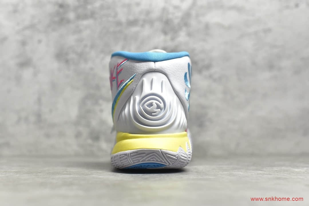 耐克欧文球鞋实战版本 NIKE Neon Graffiti 欧文6南海岸球鞋 货号:BQ4631-101-潮流者之家