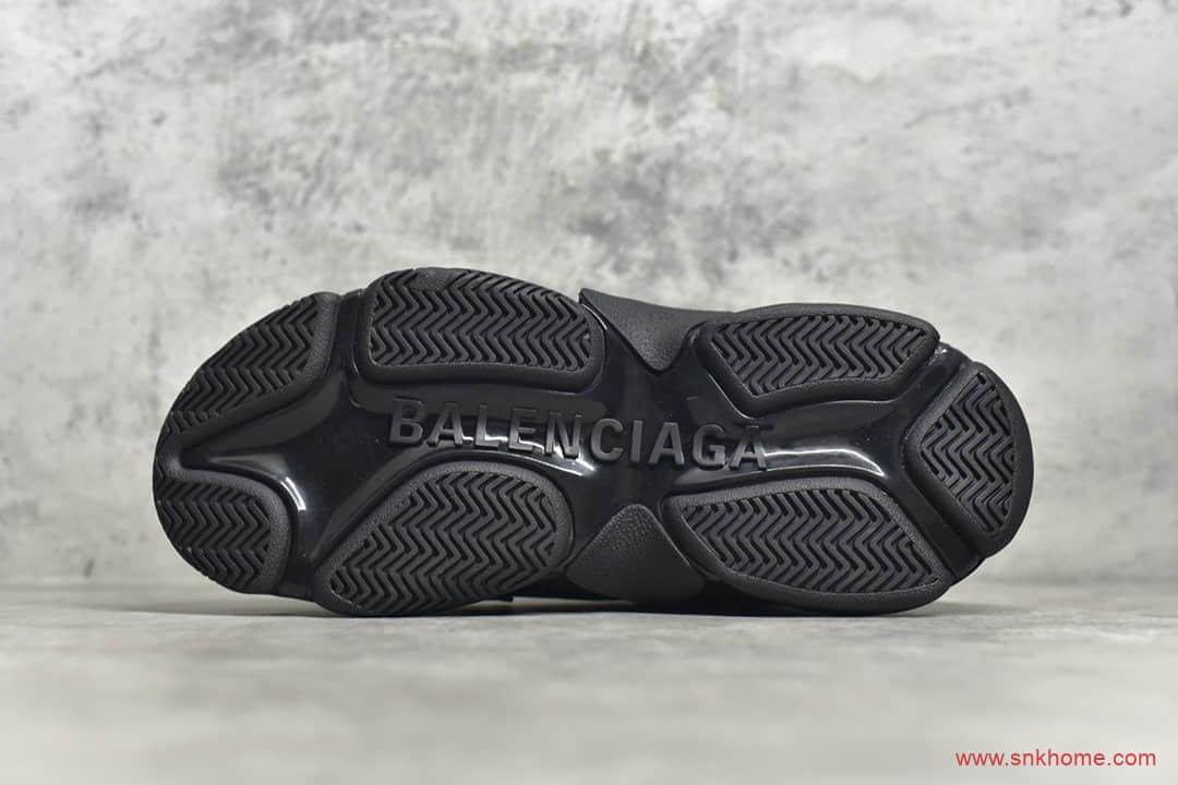 巴黎世家一代老爹鞋 Balenciaga Triple S 巴黎世家黑色弹幕巴黎世家LOGO印花-潮流者之家
