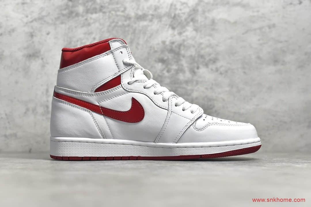 莆田纯原鞋AJ1白红高帮 Air Jordan 1白红 H12纯原版本AJ1 货号:555088-106-潮流者之家