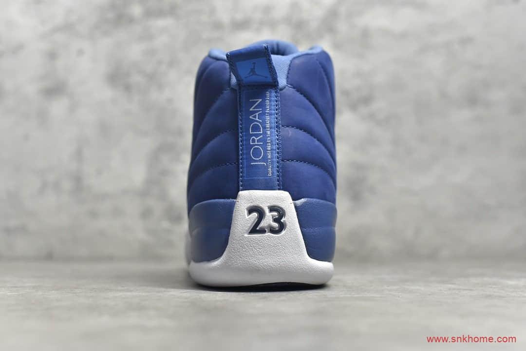 "AJ12白蓝高帮球鞋 实战篮球鞋Air Jordan 12 ""Indigo"" 货号:130690-404-潮流者之家"
