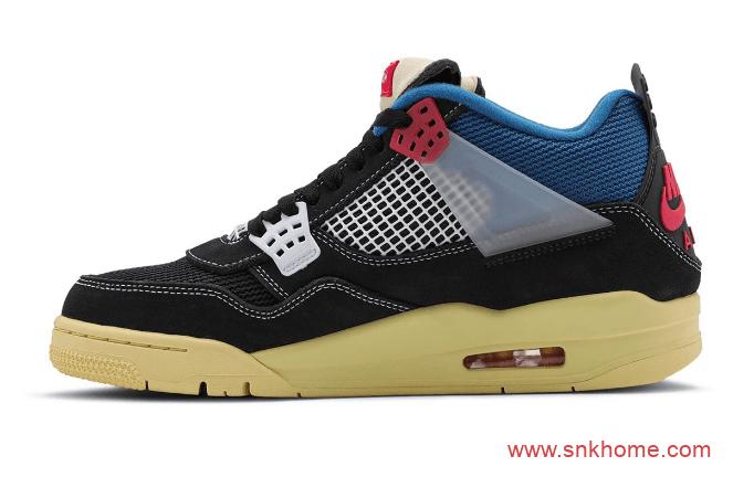 AJ4黑蓝鞋面氧化底 Union x AJ4联名款真正实物图曝光 货号:DC9533-001 / DC9533-800-潮流者之家