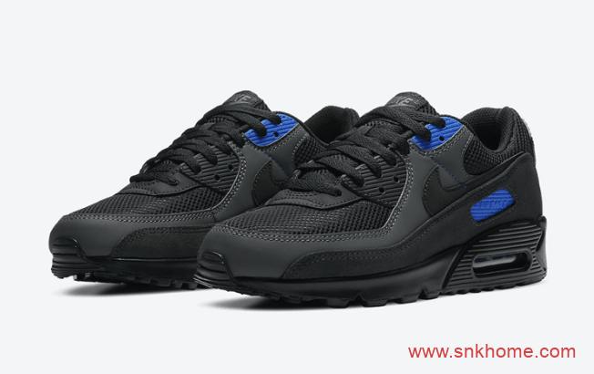 耐克MAX90黑蓝色跑鞋 Nike Air Max 90三十周年黑色发售日期 货号:DA1505-001-潮流者之家