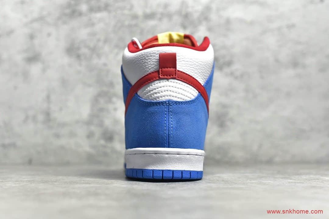 """耐克SB Dunk机器猫联名白蓝绿高帮 NIKE SB Dunk High""""Doraemon"""" H12纯原版本 货号:CI2692-400-潮流者之家"""