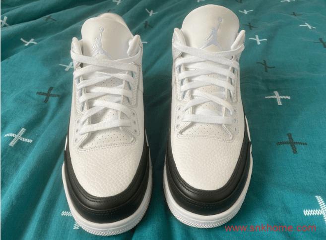 藤原浩AJ3联名白黑色 Fragment x Air Jordan 3细节图 AJ3闪电你打几分?货号:DA3595-100-潮流者之家