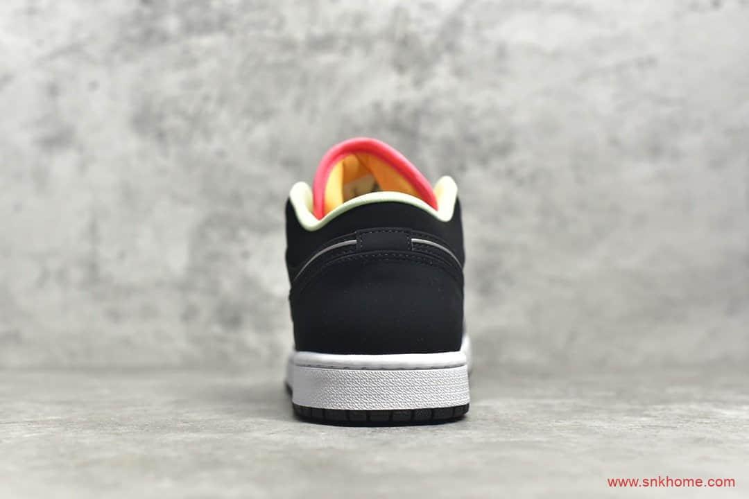 AJ1黑蓝黄拼接低帮 Air Jordan 1 H12原厂AJ纯原版本AJ1低帮拼接配色 货号:CK3022-013-潮流者之家