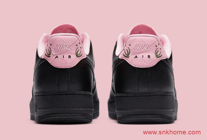 耐克空军黑色鞋面新款 Nike Air Force 1 AF1空军黑粉全新配色发售日期 货号:CJ1629-001-潮流者之家