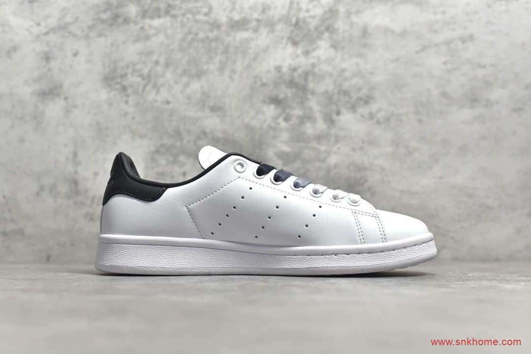 阿迪达斯小白鞋 adidas Stan Smith 史密斯黑尾板鞋 阿迪达斯头层牛皮 货号: EF4690-潮流者之家