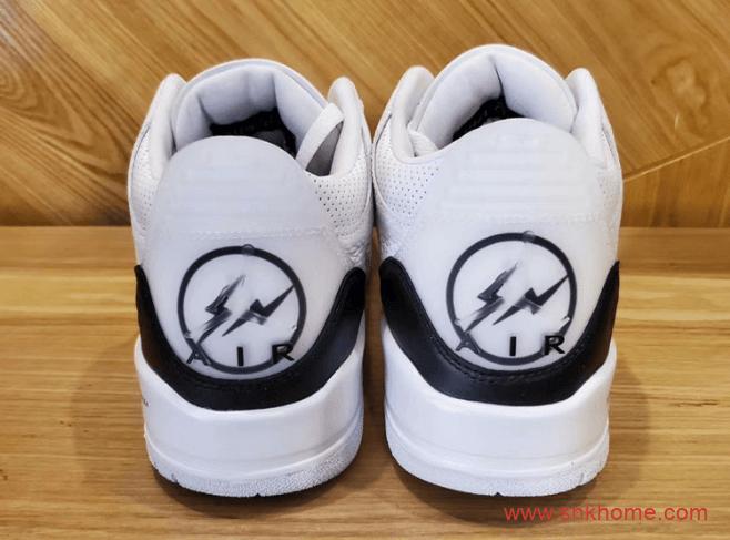 AJ3藤原浩联名最新实物图 Fragment x Air Jordan 3 SP AJ3闪电白黑球鞋规格极高 货号:DA3595-100-潮流者之家