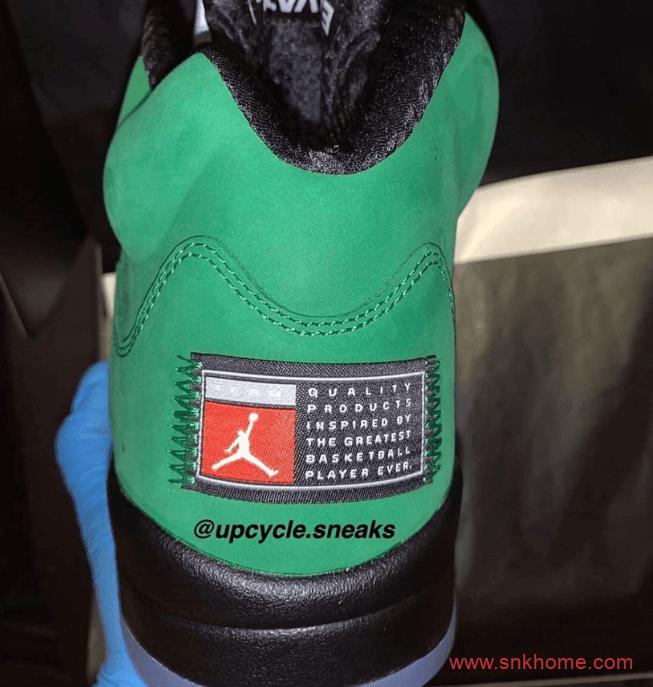 """俄勒冈 AJ5即将发售 Air Jordan 5 SE """"Oregon"""" AJ5绿黑色球鞋俄勒冈实物图 货号:CK6631-307-潮流者之家"""