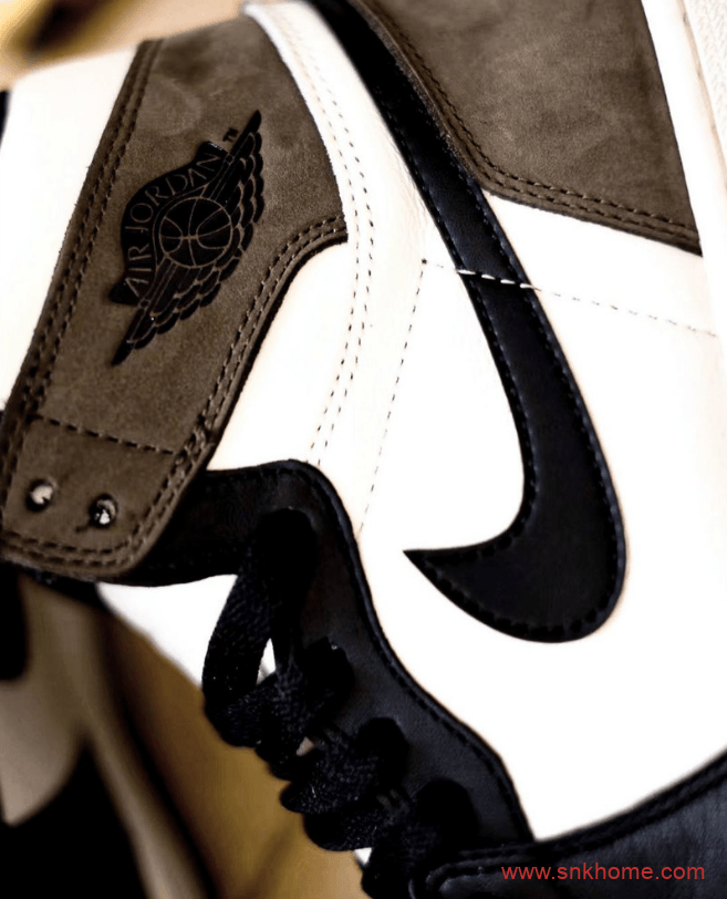 "AJ1黑脚趾小倒钩 Air Jordan 1 High OG ""Dark Mocha""实物图 AJ1白黑棕色发售日期 货号:555088-105-潮流者之家"