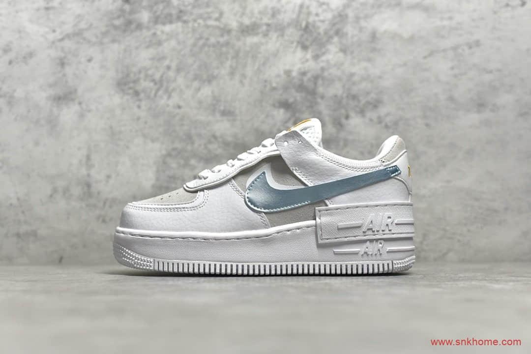 耐克空军马卡龙解构鞋 NIKE WMNS Air Force 1 Shadow CJ纯原版本耐克空军小白鞋 货号:DA4286-100-潮流者之家