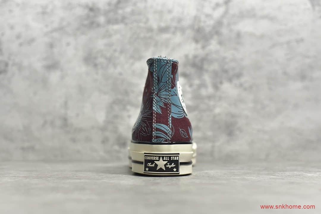 匡威公司级版本 匡威1970S高帮帆布鞋 Converse 1970S 匡威烫金花卉扎染 货号:569235C-潮流者之家