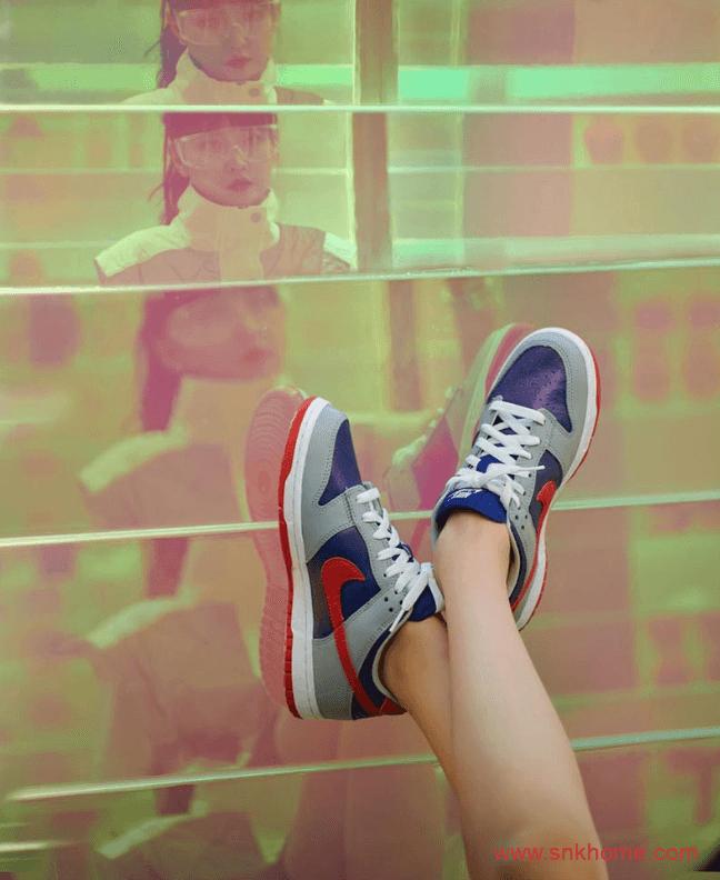 """耐克Dunk日本限定复刻 Nike Dunk Low """"Samba"""" Dunk顶级复刻灰蓝红低帮已经开始登记 货号:CZ2667-400-潮流者之家"""